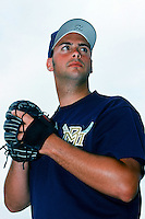 J.M. Gold of the Milwaukee Brewers poses before a 1999 Major League Baseball Spring Training game in Phoenix, Arizona. (Larry Goren/Four Seam Images)