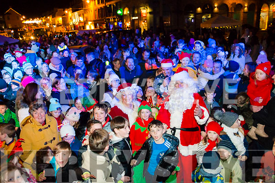 Santa turning on the Christmas lights in Kenmare on Saturday.