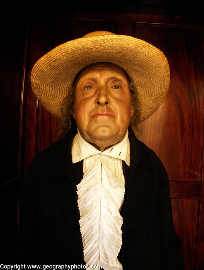 Embalmed figure of Jeremy Bentham, University College, London, England