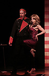 Mitchel Kawash and Mia Weinberger  perform onstage during the 'ME THE PEOPLE: The Trump America Musical' Press Preview Presentation at The Triad Theater on June 21, 2017 in New York City.