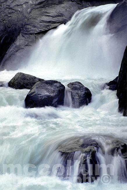 Roaring River water falls, Kings Canyon National Park, California.