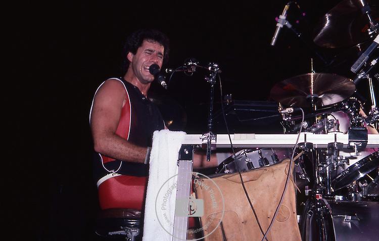Kelly Keagy of Night Ranger Night Ranger in the U.S in 1984