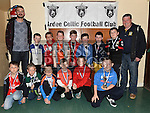 Players from The Ardee Celtic Under 9 Green with their medals at the Ardee Celtic annual awards night in Ardee parish centre. Photo:Colin Bell/pressphotos.ie