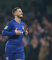 Chelsea's Eden Hazard celebrates scoring his side's second goal <br /> <br /> Photographer Rob Newell/CameraSport<br /> <br /> The Carabao Cup Semi-Final Second Leg - Chelsea v Tottenham Hotspur - Thursday 24th January 2019 - Stamford Bridge - London<br />  <br /> World Copyright © 2018 CameraSport. All rights reserved. 43 Linden Ave. Countesthorpe. Leicester. England. LE8 5PG - Tel: +44 (0) 116 277 4147 - admin@camerasport.com - www.camerasport.com