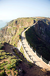 La Coupee narrow track between Sark and Little Sark, Island of Sark, Channel Islands, Great Britain
