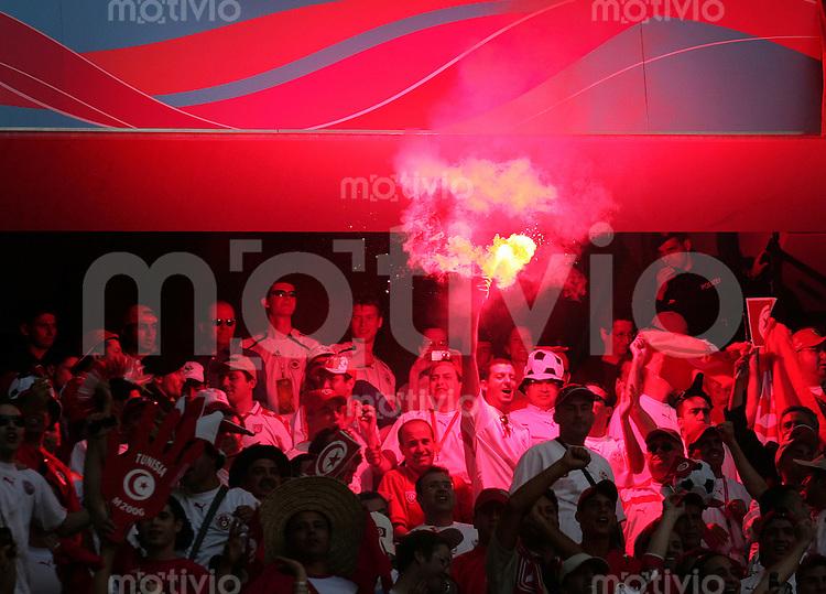 Fussball WM 2006  Gruppenspiel  Vorrunde  Gruppe H Tunesien 2-2 Saudi Arabien Fan