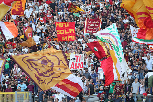 01.10.2011, Rome, Italy.   ROMA SUPPORTERS  during the Serie A match between AS Roma vs Atalanta, played in the Stadio Olimpico. Mandatory credit: Actionplus