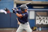 Steven Ondina (2) during the Under Armour All-America Game Practice, powered by Baseball Factory, on July 21, 2019 at Les Miller Field in Chicago, Illinois.  Steven Ondina attends International Baseball Academy in Gurabo, Puerto Rico and is committed to Florida International University.  (Mike Janes/Four Seam Images)
