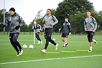 Luciano Narsingh (centre) of Swansea City in action during the Swansea City Training Session at The Fairwood Training Ground, Wales, UK. Tuesday 11th September 2018