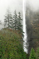 Multnomah Falls in Columbia River Gorge National Scenic Area Oregon