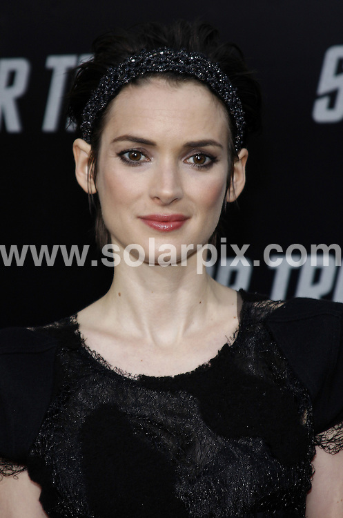 """**ALL ROUND PICTURES FROM SOLARPIX.COM**.**SYNDICATION RIGHTS FOR UK, AUSTRALIA, DENMARK, PORTUGAL, S. AFRICA, SPAIN & DUBAI (U.A.E) ONLY**.arrivals for """"Star Trek"""" Los Angeles Premiere, held at Grauman's Chinese Theater, Hollywood, CA. USA. 30 April 2009..This pic: Winona Ryder..JOB REF: 8925 PHZ (Gabber) DATE: 30_04_2009.**MUST CREDIT SOLARPIX.COM OR DOUBLE FEE WILL BE CHARGED**.**ONLINE USAGE FEE GBP 50.00 PER PICTURE - NOTIFICATION OF USAGE TO PHOTO @ SOLARPIX.COM**.**CALL SOLARPIX : +34 952 811 768 or LOW RATE FROM UK 0844 617 7637**"""