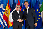 Belgium, Brussels - June 24, 2018 -- Informal working meeting on migration and asylum issues convened by Jean-Claude JUNCKER (le), President of the European Commission, here welcoming Mark RUTTE (ri), Prime Minister of the Netherlands -- Photo © HorstWagner.eu