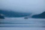 Misty fog in Sheep Bay. Prince William Sound. Alaska. U.S.A