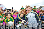 James O'Donoghue Kerry Senior footballer with Jake and Kay O'Connor (Tralee) at Kerry GAA family day at Fitzgerald Stadium on Saturday.