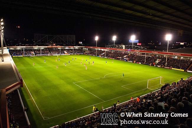 Walsall 1 Chelsea 4, 23/09/2015. Bescot Stadium, Capital One Cup Third Round. League One Walsall host struggling Premier League Chelsea. After drawing the Londoners, Saddlers supporters sold out the Bescot Stadium hoping for an upset. The match was watched by 10,525. View from the Choice Stand. Photos by Simon Gill.