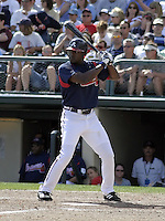 March 27, 2004:  Gary Matthews Jr. of the Atlanta Braves organization during Spring Training at Wide World of Sports in Orlando, FL.  Photo copyright Mike Janes/Four Seam Images