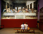 Leonardo's Last Supper reproduction at the museum in his natal home, Vinci, Tuscano, Italy