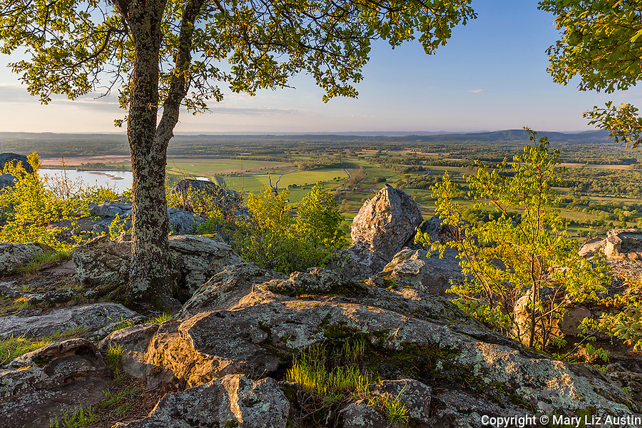 Petit Jean State Park, AR: A view of the Arkansas River Valley from Stout Overlook