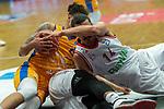 04.06.2019, RASTA Dome 2.0, VECHTA, GER, easycredit-bbl, PlayOff 02 HF, RASTA Vechta vs  FC Bayern Muenchen, im Bild<br /> <br /> Michael Kessens (Rasta Vechta #06)<br /> Nihad Djedovic (Bayern Muenchen BBL #14)<br /> Danilo Barthel (Bayern Muenchen BBL #22)<br /> <br /> Foto © nordphoto / Kokenge