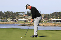 Jon Rahm (ESP) birdie putt on the 7th green during Sunday's Final Round of the 2018 AT&amp;T Pebble Beach Pro-Am, held on Pebble Beach Golf Course, Monterey,  California, USA. 11th February 2018.<br /> Picture: Eoin Clarke | Golffile<br /> <br /> <br /> All photos usage must carry mandatory copyright credit (&copy; Golffile | Eoin Clarke)