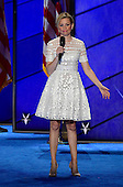 Elizabeth Banks introduces some entertainment during the second session of the 2016 Democratic National Convention at the Wells Fargo Center in Philadelphia, Pennsylvania on Tuesday, July 26, 2016.<br /> Credit: Ron Sachs / CNP<br /> (RESTRICTION: NO New York or New Jersey Newspapers or newspapers within a 75 mile radius of New York City)