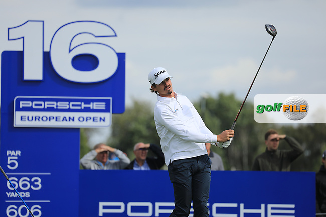 Pedro Figueiredo (POR) in action during the second round of the Porsche European Open , Green Eagle Golf Club, Hamburg, Germany. 06/09/2019<br /> Picture: Golffile | Phil Inglis<br /> <br /> <br /> All photo usage must carry mandatory copyright credit (© Golffile | Phil Inglis)