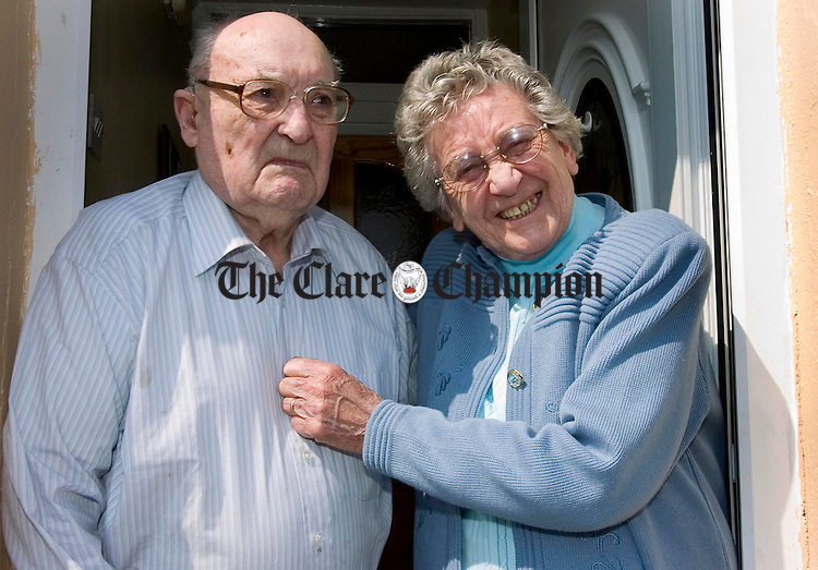 Kitty (90) and Paddy (91) McGough who celebrated their 70th wedding anniversary on April 28th.Pic Arthur Ellis.