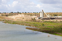 Sand and gravel mining in Fresno along the San Joaquin River.