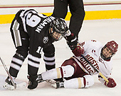 Jake Walman (PC - 19), Ron Greco (BC - 28) - The Boston College Eagles defeated the visiting Providence College Friars 3-1 on Friday, October 28, 2016, at Kelley Rink in Conte Forum in Chestnut Hill, Massachusetts.The Boston College Eagles defeated the visiting Providence College Friars 3-1 on Friday, October 28, 2016, at Kelley Rink in Conte Forum in Chestnut Hill, Massachusetts.
