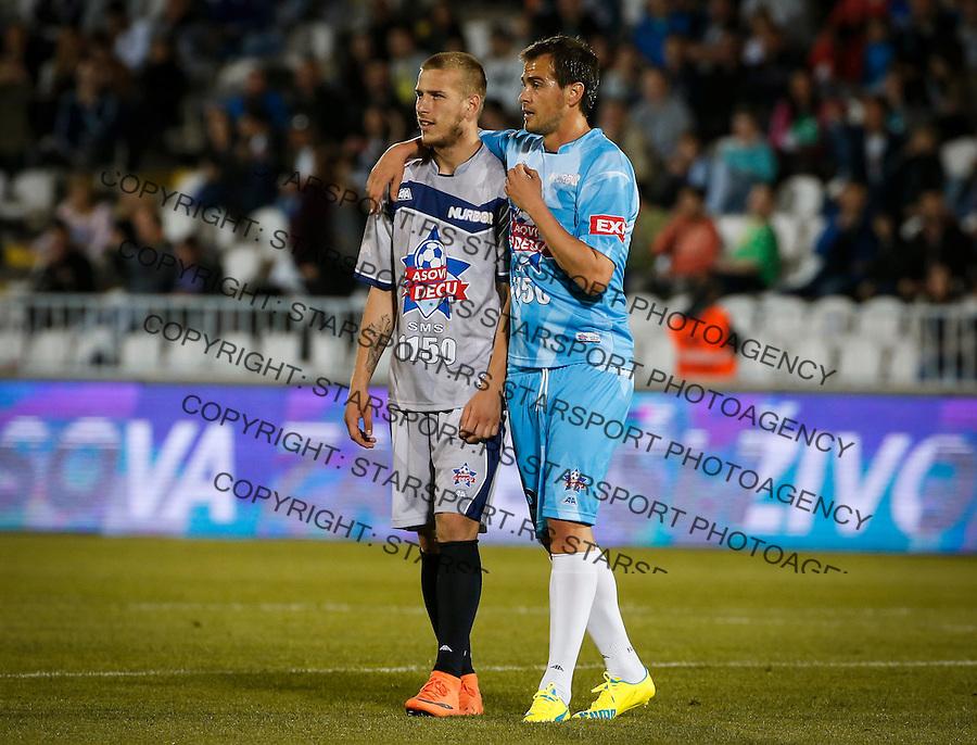 Humanitarni Fudbalski Mec<br /> Beograd, 24.05.2016<br /> Milos Stojanovic (L) and Danko Lazovic<br /> foto: Srdjan Stevanovic/Starsportphoto &copy;
