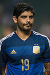 Ever Banega of Argentina looks on during the HKFA Centennial Celebration Match between Hong Kong vs Argentina at the Hong Kong Stadium on 14th October 2014 in Hong Kong, China. Photo by Aitor Alcalde / Power Sport Images