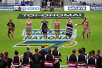 The opening ceremony and teams parade on day one of the 2018 Bayleys National Sevens at Rotorua International Stadium in Rotorua, New Zealand on Saturday, 13 January 2018. Photo: Dave Lintott / lintottphoto.co.nz