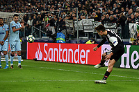 Paulo Dybala of Juventus scores the victory goal of 1-0 <br /> Torino 26/11/2019 Juventus Stadium <br /> Football Champions League 2019//2020 <br /> Group Stage Group D <br /> Juventus - Atletico Madrid <br /> Photo Andrea Staccioli / Insidefoto