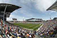 Dick's Sporting Goods Park as seen from the southwest corner of the stadium. The Colorado Rapids defeated D.C. United 2-0. Dick's Sporting Goods Park, Denver, Colorado. May 4, 2008.