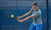 June 11th 2017, Nottingham, England; ATP Aegon Nottingham Open Tennis Tournament day 2;  backhand from Niklas Johansson of Sweden