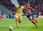 Johan Andres Mojica Palacio (L) of Girona FC competes for the ball with Sime Vrsaljko of Atletico de Madrid during the La Liga 2017-18 match between Atletico de Madrid and Girona FC at Wanda Metropolitano on 20 January 2018 in Madrid, Spain. Photo by Diego Gonzalez / Power Sport Images