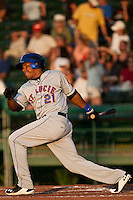 Right Fielder Cesar Puello of the St. Lucie Mets during the game against the Daytona Beach Cubs at Jackie Robinson Ballpark on May 25, 2011 in Daytona Beach, Florida. Photo by Scott Jontes / Four Seam Images