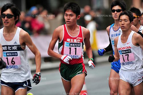 Yuki Kawauchi (JPN),.FEBRUARY 26, 2012 - Marathon : Tokyo Marathon 2012 in Tokyo, Japan. (Photo by Jun Tsukida/AFLO SPORT)[0003]