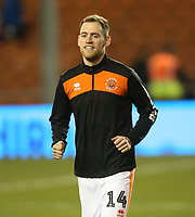 Blackpool's Harry Pritchard during the pre-match warm-up <br /> <br /> Photographer Stephen White/CameraSport<br /> <br /> Emirates FA Cup Third Round - Blackpool v Arsenal - Saturday 5th January 2019 - Bloomfield Road - Blackpool<br />  <br /> World Copyright © 2019 CameraSport. All rights reserved. 43 Linden Ave. Countesthorpe. Leicester. England. LE8 5PG - Tel: +44 (0) 116 277 4147 - admin@camerasport.com - www.camerasport.com