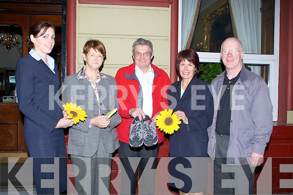 """WALK: Launching the Kerry Hospice Foundation Good Friday walk at the Grand Hotel, Tralee on Monday night, L-r: Claire O'Brien, Kay O'Donnell, Ted Moynihan (chairman KHF), Eileen Egan and Billy Heaslip................. . ............................... ............Please Tag yourself or your friends this photo.You must """"Like"""" Kerry's Eye page to Tag Photos.http://www.facebook.com/kerryseye.To Buy this photo go to our Photosales Website.http://kerryseyephotosales.photoshelter.com/.Photo Copyright of Kerry's Eye Newspaper."""