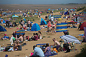 08/05/16 <br /> <br /> Sun seekers flock to bask in the hot weather on Hunstanton beach, Norfolk, this afternoon.<br /> <br /> All Rights Reserved: F Stop Press Ltd. +44(0)1335 418365   +44 (0)7765 242650 www.fstoppress.com