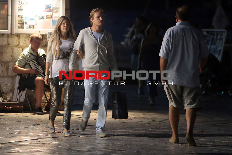 31.08.2013., Hvar,Croatia  - Formula 1 driver Nico Rosberg with his girlfriend  Vivian Sibold and friends visited Hvar <br /> Photo: Dalibor Urukalovic/PIXSELL