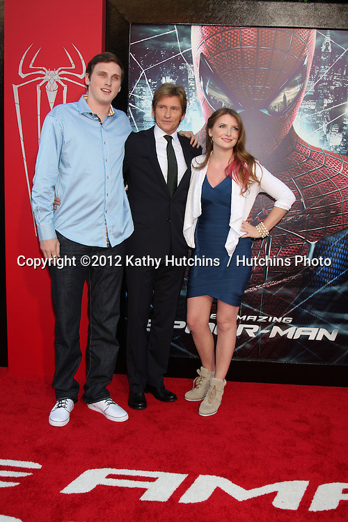 "LOS ANGELES - JUN 28:  Denis Leary and children arrives at the ""The Amazing Spider-Man"" Premiere at Village Theater on June 28, 2012 in Westwood, CA"