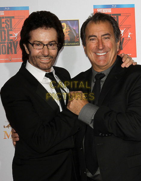 "George Chakiris & Kenny Ortega.""West Side Story: 50th Anniversary""  Blu-Ray Release Premiere Held At Grauman's Chinese Theatre, Hollywood, California, USA..November 15th, 2011.half length black suit white shirt stubble facial hair grey gray shirt glasses .CAP/ADM/KB.©Kevan Brooks/AdMedia/Capital Pictures."