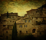 Umbrian houses in Italy
