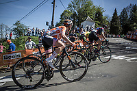 Megan Guarnier (USA/Boels Dolmans) up the first passage of the infamous Mur de Huy. <br /> <br /> 21st La Flèche Wallonne Femmes <br /> 1 day race: Huy - Huy (118,5KM)