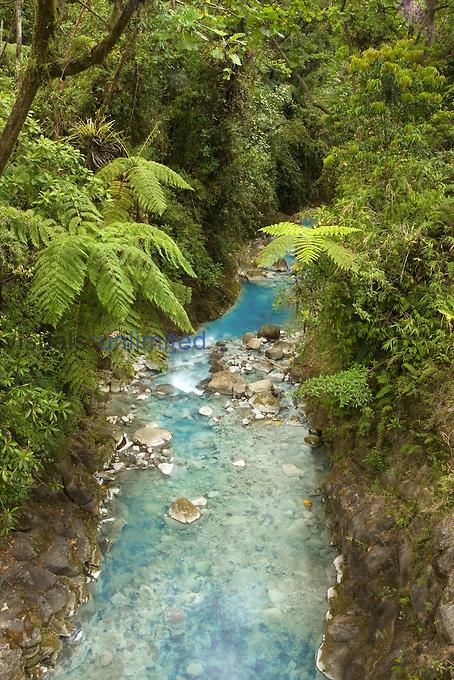 The Rio Desague, a river that originates in Poas Volcano National Park, Costa Rica