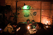 Customers enjoy themselves at the Sam's bar in Thamel in capital Kathmandu, Nepal