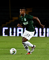 BOGOTÁ - COLOMBIA, 14-01-2019: Cristian Mafla, jugador de Atlético Nacional, en acción, durante partido entre América de Cali y Atlético Nacional, por el Torneo Fox Sports 2019, jugado en el estadio Nemesio Camacho El Campin de la ciudad de Bogotá. / Cristian Mafla, player of Atletico Nacional, in action, during a match between America de Cali and Atletico Nacional, for the Fox Sports Tournament 2019, played at the Nemesio Camacho El Campin stadium in the city of Bogota. Photo: VizzorImage / Luis Ramírez / Staff.