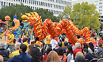 The MIMS Dragon Dance Team performs at the Dragon and Phoenix Spark Park dedication ceremony at Mandarin Immersion Magnet School on Oct. 27, 2017.